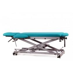 Camilla de osteopatía hidráulica y económica, multifuncional de 7 secciones con ruedas escamoteables.