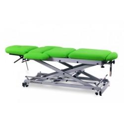 Camilla de osteopatía hidráulica y económica, multifuncional de 9 secciones con ruedas escamoteables.