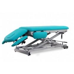Camilla de osteopatía electrica y economica, multifuncional de 7 secciones con ruedas escamoteables.