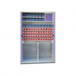 Armario de farmacia sin dotación, 2 puertas de persiana métalico.
