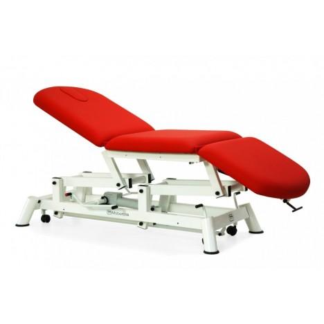 Camilla eléctrica tipo sillón, respaldo abatible y ruedas escamoteables