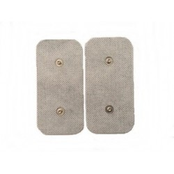 2 ELECTRODOS RECTANGULAR SNAP / CLIP - 100 x 50 mm