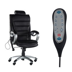 Sillón de oficina con masaje shiatsu ECO-150 negro ECO-DE®