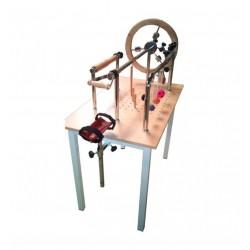 Mesa para ejercicios de manos y tendones pintada
