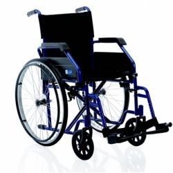 Silla de ruedas plegable con portasueros y antirrobo