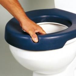 Asiento elevador de WC blando 'Blue'