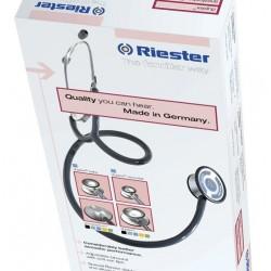 Fonendoscopio Riester Duplex Negro, Aluminio, en Caja Expositora de Cartón (Ref. 4001-01)