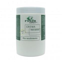 Crema de masaje Sin parabenes Fisiomarket 1kg en tarro