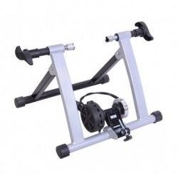 Rodillo Bicicleta para Entrenamiento de Ciclismo - Color Plateado - Estructura de Acero - 54'5x47'2x39'1cm