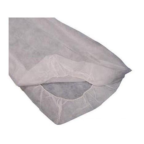 Sabanilla Blanca Ajustable de polipropileno Plus 40 gr. 95 cm x 220 cm (10 o 100 unidades)