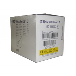 Aguja Microlance 0.3 X 13 Mm caja de 100 unidades