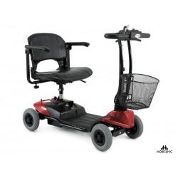 Scooter eléctrico con 4 ruedas | Compacta, Plegable y Desmontable Color Rojo Virgo