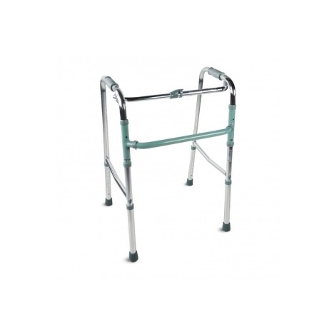 Andador para adultos de aluminio plegable sin ruedas