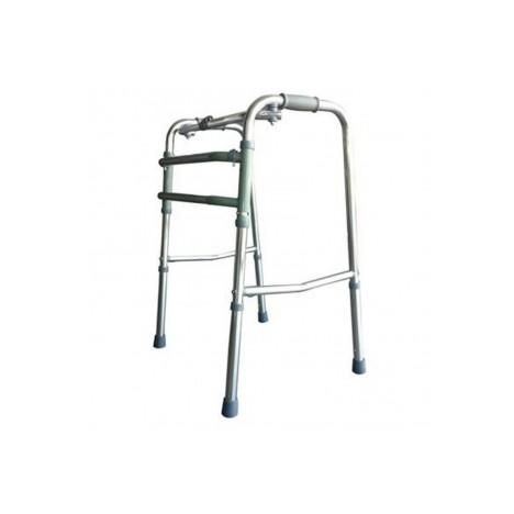 Andador para ancianos de aluminio plegable sin rueda