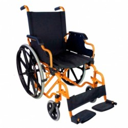 Silla de ruedas premium plegable ruedas grandes ortopédica reposabrazos abatibles