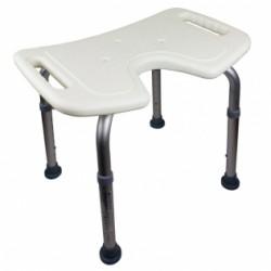 Banqueta de baño altura regulable asiento en U conteras antideslizantes