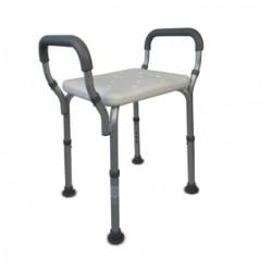 Silla para baño aluminio y PVC altura regulable reposabrazos