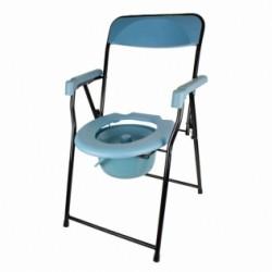 Silla con WC plegable reposabrazos asiento ergonómico conteras antideslizates