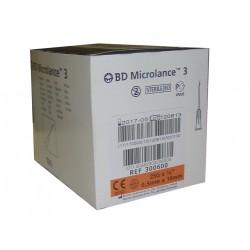 Aguja hipodérmica BD Microlance 0,5 mm x 16 mm. 25G X 5/8 Caja de 10