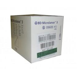 Aguja hipodérmica BD Microlance 0,8 mm x 25 mm 21G x 1 Caja de 100