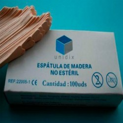 Espátula de madera AIRE no estéril. Caja de 100 uds.