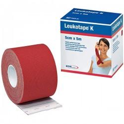 Leukotape K 5 cm x 5 metros Color Rojo