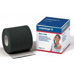 Leukotape K 5 cm x 5 metros Color Negro