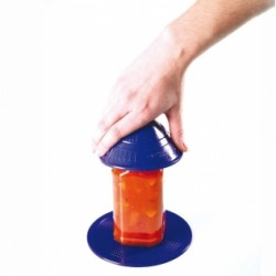 Abretarros antideslizante para abrir o cerrar recipientes