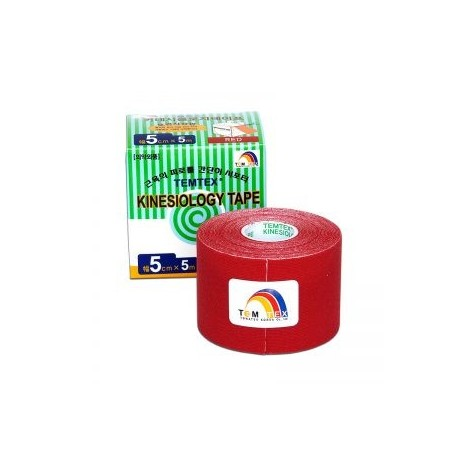 Temtex Kinesiology Tape Rojo 5cm x 5m