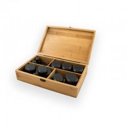 Piedras Calientes de Basalto Breathe: Ideales para masajes y terapias (64 piedras)