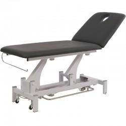 Camilla eléctrica de dos secciones Torac: Resulta ideal para tratamientos de fisioterapia con portarrollos incluido