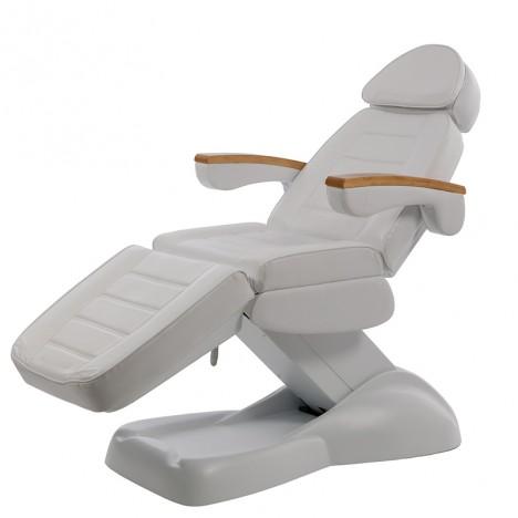 Camilla eléctrica de masaje Clavi: Con tres/cuatro motores, reposabrazos abatibles y apoyacabezas regulable