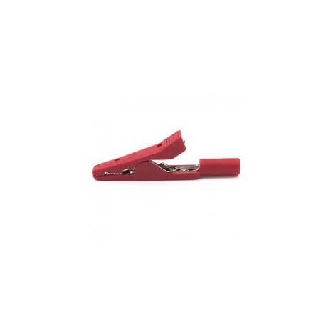Adaptador Pinza Cocodrilo con Conector Hembra 2 mm (1 unidad) Roja