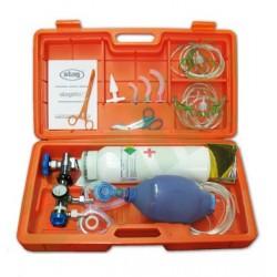 Maletas de emergencia con O2: botella de oxígeno medicinal de 400 litros