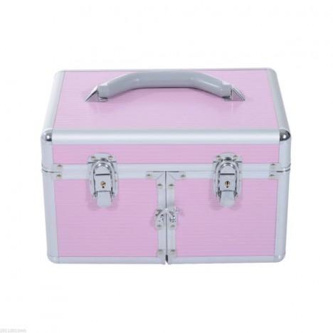 HomCom® Maletín para Maquillaje Caja de Belleza Portátil 4 Niveles 35.5x20x25.5cm