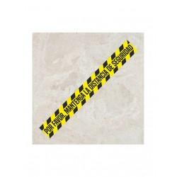 Vinilo suelo con antideslizante para marcar distancias de seguridad