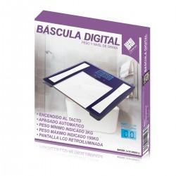 Báscula digital de baño con medidor de grasa