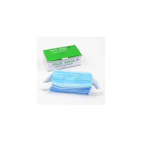 Mascarilla azul rectangular 3 capas (Caja 1.000 unidades)