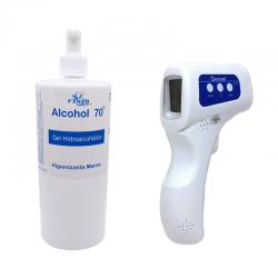 Pack Gel Hidroalcohólico y Termómetro Digital Sin Contacto