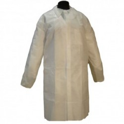 Bata de Polipropileno Blanco 25 grs. Cierre Velcro