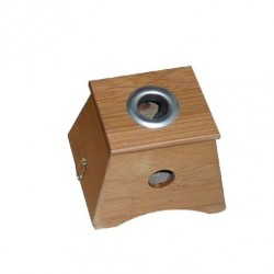 Aplicador Moxa en Caja de Madera 11 x 9,5 x 9,5 cms