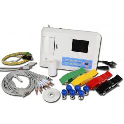 Electrocardiógrafo 12 derivaciones, 3 canales con pantalla e interpretativo