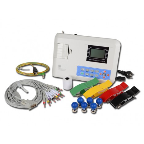 Electrocardiógrafo digital portátil 3 canales ECG pantalla LCD sistema de impresión
