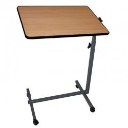 Mesa auxiliar para cama o sofá regulable ligera madera