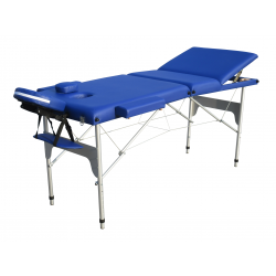 Camilla Plegable de Aluminio 3 Cuerpos Color Azul + Regalo Funda con ruedas