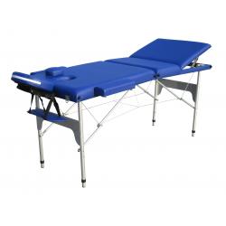 Camilla Plegable de Aluminio 3 Cuerpos Color Azul
