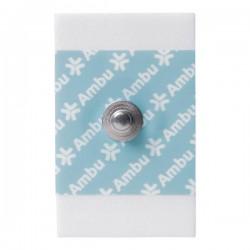 Electrodo corchete de monitorización ECG - Gel Sólido - Tamaño Adulto - 28mm x 44mm (Bolsa 100 Unidades)
