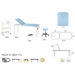 Pack equipamiento metálico blanco M44 62x188 T13