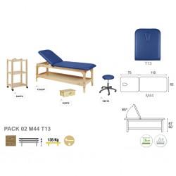 Pack equipamiento madera natural M44 62x188 T13