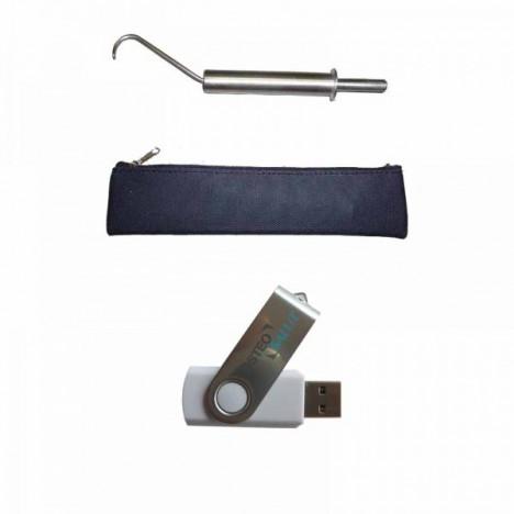Gancho de fibrólisis Diacutánea + USB Informativo + estuche